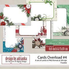 FREE Christmas cards FREEBIES by Adrianka