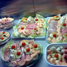 Cold Dishes, Hungarian Recipes, Hors D'oeuvres, Food Platters, Food Art, My Recipes, Salads, Appetizers, Food And Drink