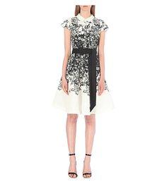TED BAKER - Illustrated floral-print satin shirt dress | Selfridges.com
