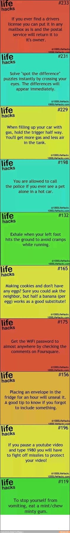 Life hacks and tips/ tricks