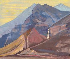Palden Lhamo 1, Oil by Nicholas Roerich (1874-1947, Russia)