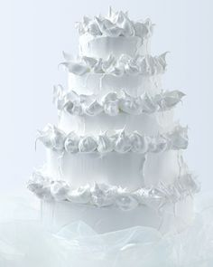 Meringue-tufted tower  #white #Wedding Cake ... Wedding ideas for brides, grooms, parents & planners ... https://itunes.apple.com/us/app/the-gold-wedding-planner/id498112599?ls=1=8 … plus how to organise an entire wedding, without overspending ♥ The Gold Wedding Planner iPhone App ♥