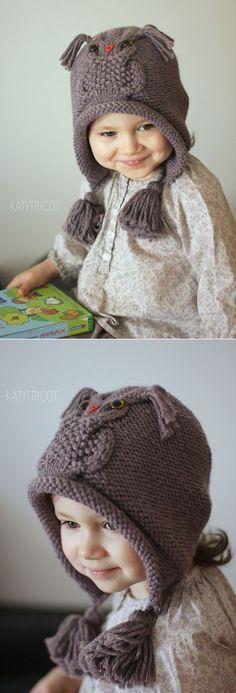 "Ravelry: Сова пути Hat шаблон Екатерина Бланшар [ ""Ravelry: Owl Hat Pattern way Catherine Blanchard"" ] # # # # # # Baby Knitting Patterns, Knitting For Kids, Crochet For Kids, Baby Patterns, Knitting Projects, Crochet Patterns, Knitted Blankets, Knitted Hats, Crochet Cap"
