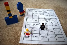 The Lego (Math) Board Game! Such an awesome idea for teaching the little ones.