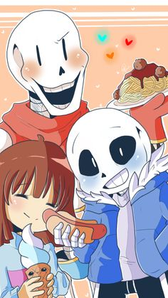 A Skele - Ton of Food :) by shallowdeepcreation on DeviantArt | Sans, Frisk, and Papyrus