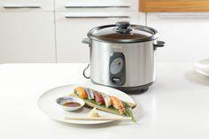 Nigiri Zushi and rice cooker Sencor SMR Rice Cooker, Slow Cooker, Sea Bass, Cucumber, Sushi, Crockpot, Salmon, Kitchen Appliances, California Rolls