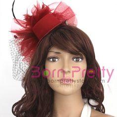 $4.39 Lady Black Dots Fascinator Red Mini Top Hat Cap Hair Clip - BornPrettyStore.com Best Gel Nail Polish, Black Dots, Fascinator, Hair Clips, Crochet Hats, Nail Art, Cap, Mini, Pretty