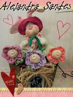 Amor-Perfeito-Amor: Coelha no vaso - molde