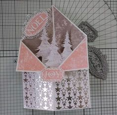 I've seen some of this shape of card lately and thought it would make a lovely Christmas card. I've used the beautiful new Winter Wish...