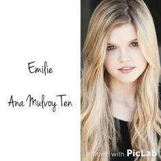 My dream cast for the Lunar Chronicles: Émilie  (Y.P.)