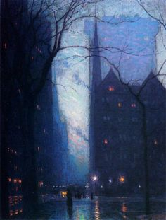 Lowell birge harrison, 5th avenue at twilight
