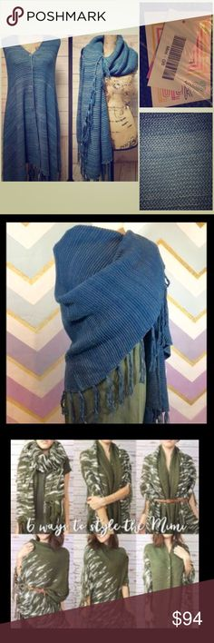 Lula Roe Mimi scarf/shawl/poncho This is a highly versatile and hard to purchase item from Lula Roe. Wear as a scarf, as a poncho buttoned up to the front or side, a shawl, etc. the possibilities are many. See photo #3 for ideas on how to style this versatile and gorgeous knit piece. LuLaRoe Accessories Scarves & Wraps