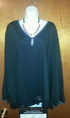 Lemmie for Nina Leonard Long Sleeved Blouse Size 5X