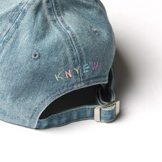 """Closer look at the @KNYEW """"Pastel Faded Strapback"""" in Washed Denim   Dropping this Friday, 1/8   #KNYEW"""