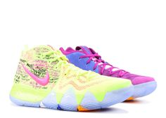 best cheap ad94a d1f80 Newest Confetti Nike Kyrie 4 Size 12 Kyrie Irving Basketball Shoe Multi  Color