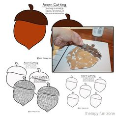 I love cutting activities that then include other skills, like tearing paper, writing, and q-tip painting. I have done many different cutting activities, and here is a quick and easy fall cutting activity that can be done in different ways to work on different fine motor skills. We have some acorns to cut out, and …
