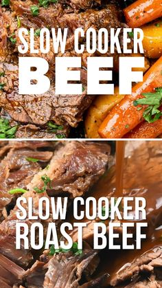 This Slow Cooker Beef will be become your favourite Sunday Roast – incredibly tender slow cooked beef in a rich gravy. for flavour and almost zero effort! Slow Cooker Roast Beef, Cooking Roast Beef, Roast Beef Recipes, Crock Pot Slow Cooker, Grilling Recipes, Roast Beef In A Bag, Roast Beef In Oven, Eye Round Roast Recipe Slow Cooker, Slow Cook Recipes