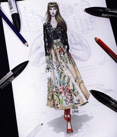 Fashion Illustration Speed Painting with Ink - Drawing On Demand Fashion Illustration Sketches, Woman Illustration, Fashion Design Sketches, Sketch Design, World Of Fashion, Fashion Art, Fashion Beauty, Womens Fashion, Fashion Figures