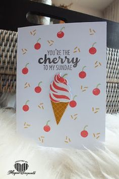 Magical Scrapworld: You're the cherry to my sundae, cards, cool treats, icecream, spring catalogue 2017, Stampin' Up!, occasions 2017