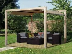 Pergola With Roof Plans Backyard Canopy, Backyard Landscaping, Outdoor Gazebos, Outdoor Gardens, Awning Roof, Enclosed Gazebo, Gazebo Decorations, Grill Gazebo, Pavillion