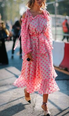 This dress is so fun! The pink polka-dots totally make this dress! We love this cute, feminine dress, so chic and definitely party worthy!