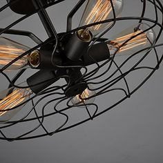 Electro_BP; Vintage Style Metal Art Ceiling Light Max 300W With 5 Lights Painted Finish *** Be sure to check out this awesome product.-It is an affiliate link to Amazon. #DiningRoomLighting