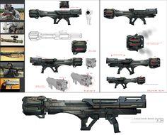 ArtStation - Weapon prop, Brian Yam