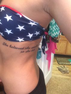 """She believed she could so she did"""