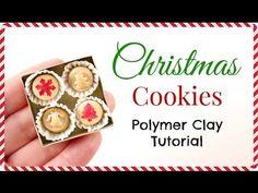 Miniature Doll Christmas Cookies   Polymer Clay Tutorials   Dollhouse DIY - YouTube