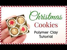 Miniature Doll Christmas Cookies | Polymer Clay Tutorials | Dollhouse DIY - YouTube