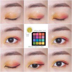 57 ideas bright makeup looks natural make up Nyx Eyeshadow Palette, Makeup Tips Eyeshadow, Eye Makeup Cut Crease, Eyeshadow Base, Eyeliner, Eyebrows, Eyeshadows, Nyx Brights Palette, Nyx Palette