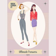 Make yourself a pair of Ultimate Trousers with this perfect pattern! Slim fitting, ankle grazing and flattering for so many figures, the Ultimate Trousers will be your go-to trouser pattern. So simple to make you will be whipping these up in a couple of hours.  The Ultimate Trousers sewing pattern is the perfect choice for an advanced beginner who wants to delve into trouser making without any of the complicated or confusing techniques. With no tricky fly to contend with, the Ultimate…