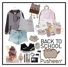 """#PVxPusheen"" by crowleyc-1 ❤ liked on Polyvore featuring Pusheen, T By Alexander Wang, Vans, Givenchy, NYX, Topshop, contestentry and PVxPusheen"