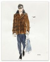Longtime friend & amazing fashion illustrator Richard Haines - Untitled 2 (A/W 2011 Men's Collections) for New York Times T Blog