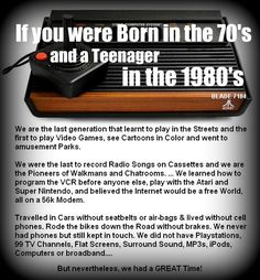 If You Were Born in the 70\'s