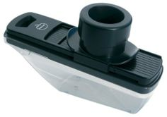 Orka Mini Mandoline SlIcer, Black by ORKA. $10.95. Ultra-sharp stainless steel blade. Space-saving, includes blades for slicing, grating and julienne. Two thickness settings for slicing. Large push-button handle for comfort. Detachable container can be used for food storage. MINI MANDOLINE SLICER