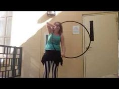 Two handed horizontal Cateye (hoop isolation tutorial). Isopuppy.