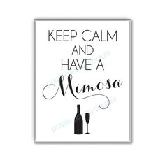 Mimosa Bar Sign Bridal Shower Decoration by PurplePeonyCouture, $5.00