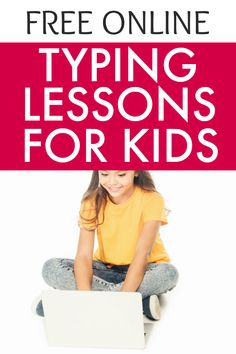Learning typing for kids doesn't need to be boring! Try these free typing games and fun typing lessons for kids. #typing #lessons #keyboarding #homeschool #school