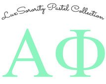 Alpha Phi Sorority Decal – Pastel Colors