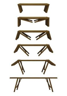 Mix 'n' Match Cribs : Muu Childrens Furniture Folding Furniture, Multifunctional Furniture, Space Saving Furniture, Table Furniture, Garden Furniture, Furniture Design, Furniture Ideas, Coffee Table To Dining Table, Table Cafe