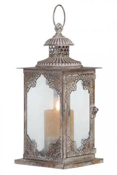 Deco 79 52900 Metal Glass Lantern *** You can find more details by visiting the image link. Candle Lanterns, Lantern Candle Holders, Candle Sconces, Lanterns, Metal Lanterns, Glass Lantern, Lantern Lights, Lantern Chandelier, Candles And Candleholders