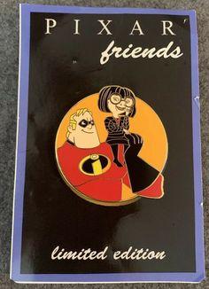 154a02220955e Pixar Friends Disney Fantasy Pin LE 36 50 Mr Incredible Edna Mode HTF Parr  Rare