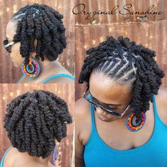 This pin was discovered by telisa moore. Dreadlock Styles, Dreads Styles, Updo Styles, Dreadlock Hairstyles, Braided Hairstyles, Cool Hairstyles, Bobs, Natural Hair Styles, Short Hair Styles