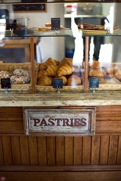 the best patisserie I've ever been to: Parker-Lusseau Pastries. Bakery Cafe, Cafe Restaurant, Rustic Bakery, Restaurant Interiors, Bakery Design, Cafe Design, Pastry Display, Bakery Display Case, Bread Display