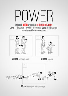 Power HIIT workout.