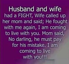 and wife # humor. great humor gift for the bride and groom Lol, Haha Funny, Funny Jokes, Funny Stuff, Funny Things, Funny Shit, Funny Sarcasm, Random Things, Mother In Law Quotes