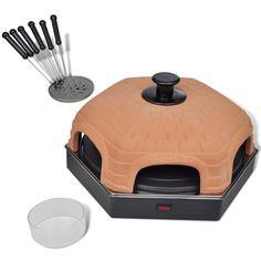 Pizza Dome Oven Stove Portable Genuine Italian Old Way Terra-cotta w/6 spatulas