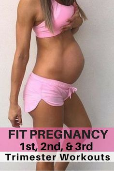 Pregnancy workouts for every trimester. Pregnancy workouts are safe & can be done at home with no equipment and in every trimester to have a fit pregnancy. #PregnancyWorkout