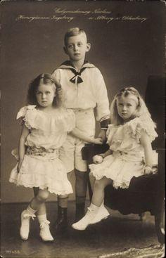 Ansichtskarte / Postkarte Ergbroßherzog Nicolaus, Herzoginnen Ingeborg und Altburg von Oldenburg